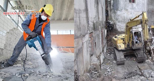 Khoan cắt rút lõi bê tông Hoàng Lâm công nghệ hiện đại