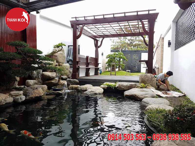 Sân vườn đẹp đa dạng mẫu mã chỉ có ở non bộ Thanh Sơn